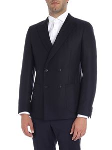 Z Zegna - Black and blue double-breasted jacket