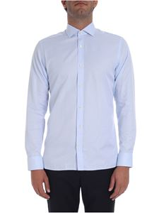 Z Zegna - Light blue slim fit shirt