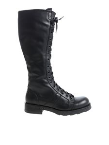 "oXs - ""Charlie"" black brushed leather boots"