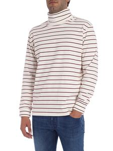MSGM - Striped cream turtleneck