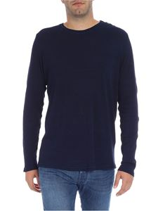 Balmain - Blue melange t-shirt with buttons