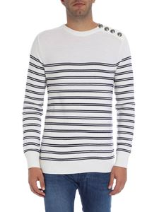 Balmain - Striped cream sweater
