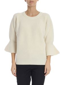 Michael Kors - Ivory pullover with flared sleeves