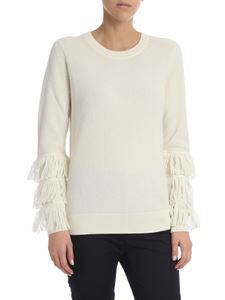 Michael Kors - Ivory pullover with fringes