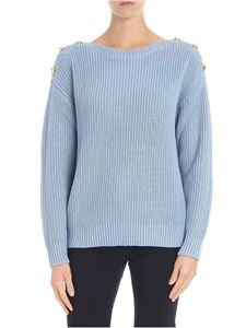 Michael Kors - Light-blue pullover with golden buttons