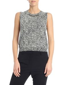 "Pinko - Black and white ""Coral"" top"