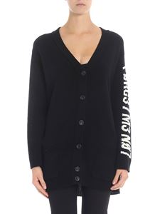 Red Valentino - Cardigan with encrypted love letter jaquard design