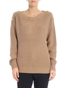 Michael Kors - Beige pullover with golden buttons