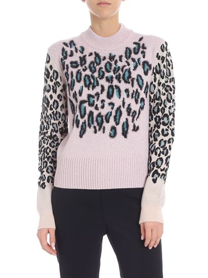 """Kenzo - """"Leopard"""" lilac pullover"""