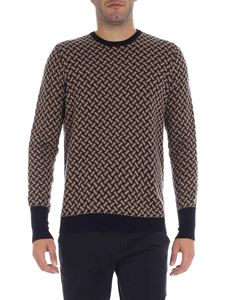 Drumohr - Black and beige cashmere pullover