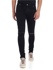 Balmain - Black jeans with knee rips