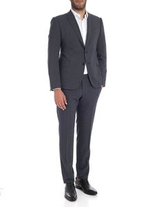 Emporio Armani - Blue and black melange two buttons suit