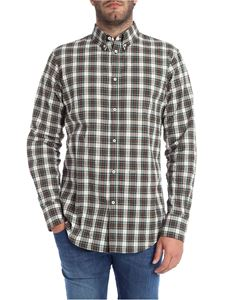 Dsquared2 - Green white and brown checked shirt