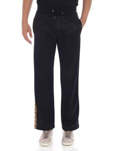 Versace - Black sweat pants with side bands