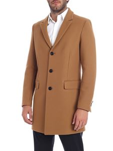 Dondup - Camel-colored single-breasted coat