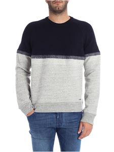 Dsquared2 - Blue and grey crew-neck sweatshirt