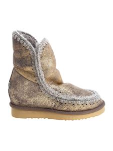 "Mou - Stivaletto ""Eskimo Wedge Short"" dorato"