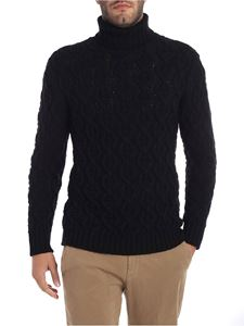Paolo Pecora - Black turtleneck with tricot effect