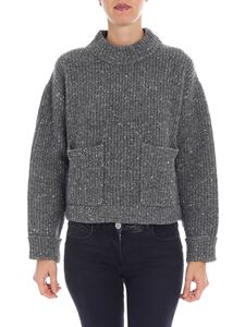 Philosophy di Lorenzo Serafini - Grey pullover with patch pockets