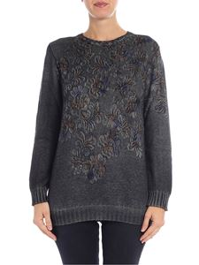 Avant Toi - Gray floral printed pullover