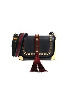 Alberta Ferretti - Black shoulder bag with golden details