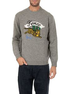 "Kenzo - ""Jumping Tiger"" gray pullover"