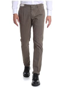 Incotex - Taupe-color textured trousers