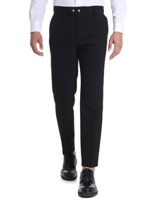 Kenzo - Black trousers with white detail