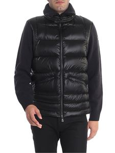 Moncler Grenoble - Dark grey cardigan with down insert