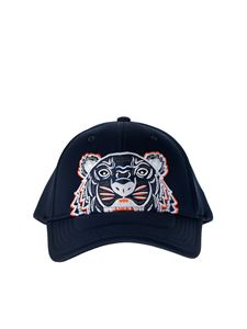 Kenzo - Blue baseball cap with Tiger embroidery