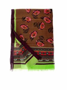 Etro - Multicolor wool and silk pashmina