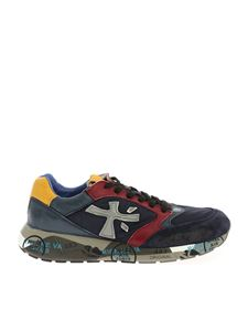 "Premiata - ""Zac Zac"" blue and burgundy sneakers"