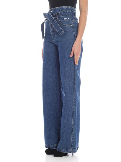 MSGM - Denim trousers with strap