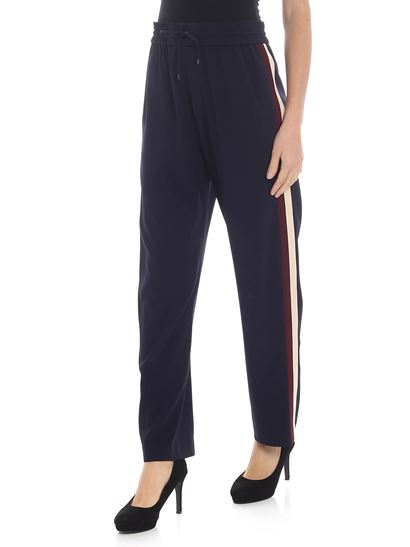 Kenzo - Blue trousers with side bands