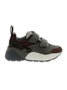 "Stella McCartney - ""Eclypse"" grey and brown Chunky sneakers"