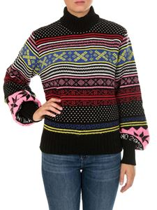 MSGM - Sweater with multicolor geometric embroidery