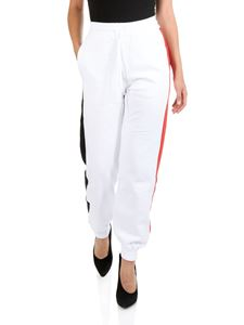MSGM - White sweat pants with side bands