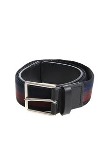 Paul Smith - Striped multicolor fabric belt