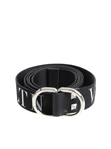 "Valentino - Black ""VLTN"" belt"