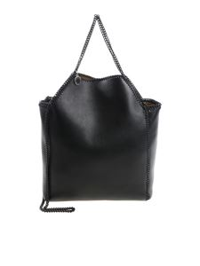 Stella McCartney - Black mini tote bag with black chain