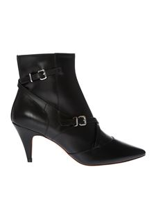 Tod's - Black ankle boots with straps and zip