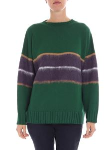 Altea - Green and purple pullover with inlay