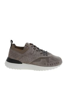 Tod's - Taupe-color suede sneakers