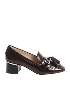 Tod's - Burgundy leather pumps
