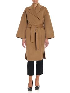 Theory - Camel-color coat with belt