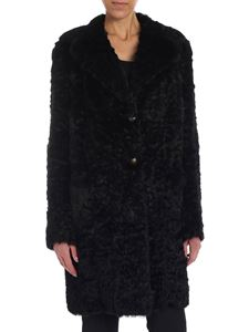 Salvatore Santoro - Black reversible rabbit fur coat