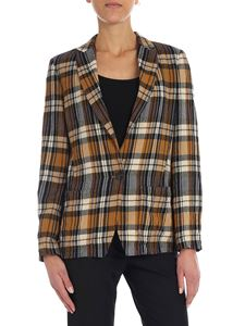 Forte Forte - Beige and blue check jacket