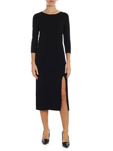 Jucca - Long black dress with vent