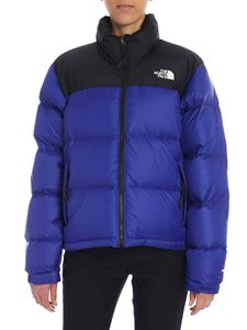 "The North Face - Blue and black ""Nuptse"" down jacket"