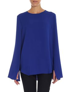 Theory - Electric blue crewneck blouse